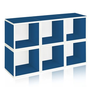 Evan Eco Stackable 6 Modular Cube Storage by Way Basics LIFETIME GUARANTEE (More options available)