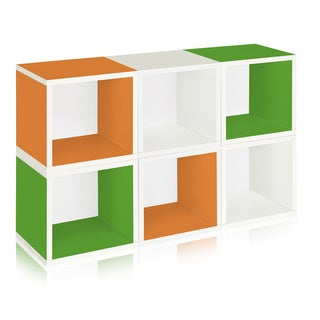 Evan Eco Friendly Stackable 6 Modular Cube Storage LIFETIME WARRANTY (made from sustainable non-toxic zBoard paperboard)