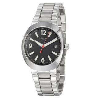 Rado Men's 'D-Star' Ceramos Water-resistant Black-dial Swiss Quartz Watch