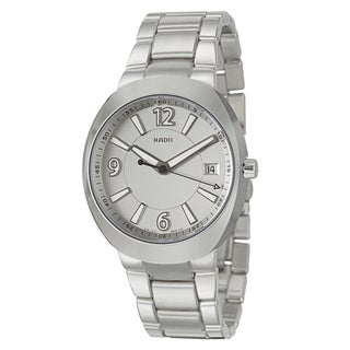 Rado Men's 'D-Star' Ceramos Silvertone Dial Swiss Quartz Watch
