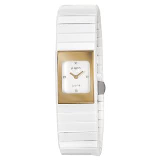 Rado Women's 'Ceramica' Ceramic Swiss Quartz Watch with Diamond Accents