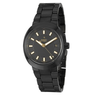 Rado Men's 'D-Star' Black Ceramic Swiss Automatic Watch