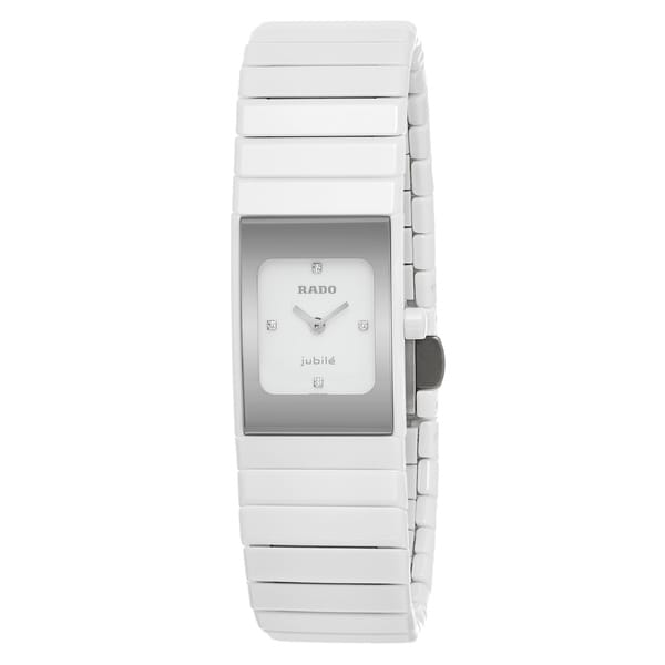 Rado Women's 'Ceramica' White Diamond-accented Ceramic Swiss Quartz Watch