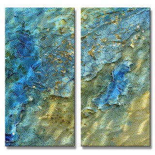 Kelli Money Huff 'Water Swept' Metal Wall Art