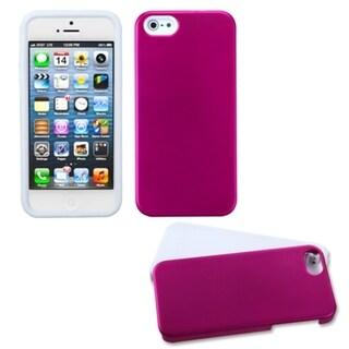 INSTEN Titanium Hot Pink/ White Fusion Phone Case for Apple iPhone 5/ 5S/ SE