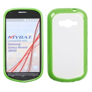 INSTEN Clear/ Solid Green Gummy Phone Case Cover for Samsung M950 Galaxy Reverb