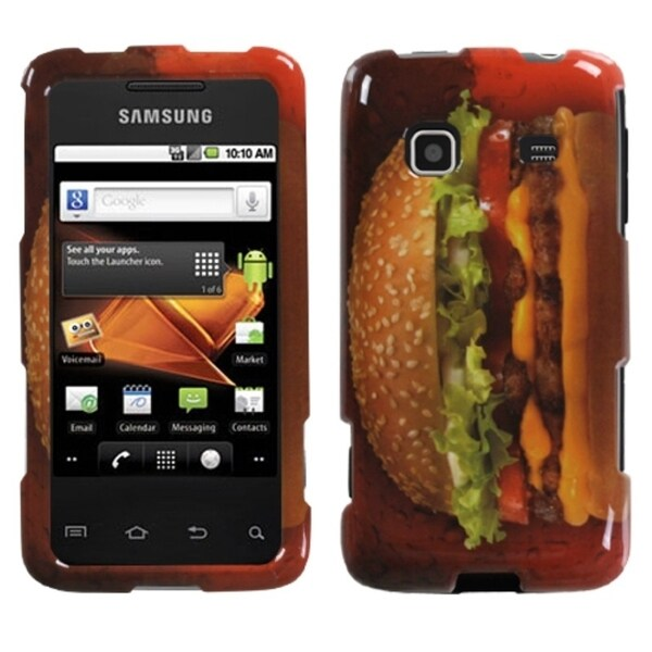 INSTEN Burger Lover-Food Fight Phone Case Cover for Samsung M820 Galaxy Prevail