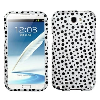 INSTEN Black Mixed Dots Phone Case Cover for Samsung Galaxy Note II T889/ I605