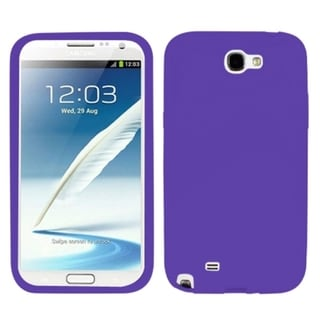 INSTEN Purple Skin Phone Case Cover for Samsung Galaxy Note II T889/ I605