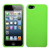 INSTEN Green Rubberized Phone Protector Case for Apple iPhone 5/ 5S/ SE