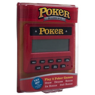 RecZone Electronic Handheld 5-in-1 Poker Game