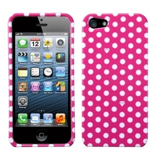 INSTEN Pink/ White Dots Phone Protector Case for Apple iPhone 5/ 5S/ SE