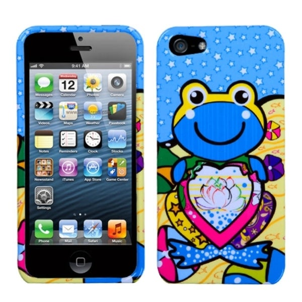 INSTEN Blue Lotus Frog Phone Protector Case for Apple iPhone 5/ 5C/ 5S/ SE