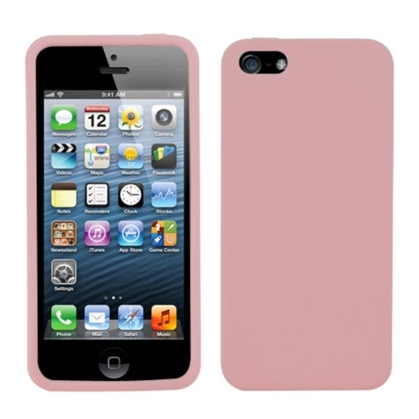 INSTEN Pink Solid Skin Phone Case for Apple iPhone 5/ 5S/ SE