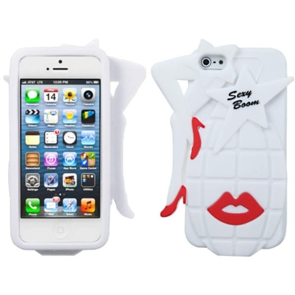 INSTEN White Sexy Boom Pastel Skin Phone Case for Apple iPhone 5/ 5S/ SE