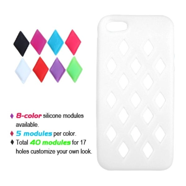 INSTEN White Module Skin Phone Case for Apple iPhone 5/ 5S/ SE