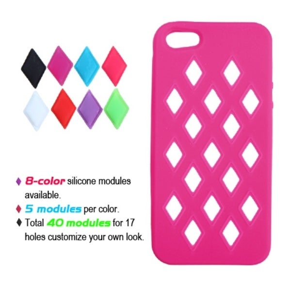 INSTEN Hot Pink Module Skin Phone Case Cover for Apple iPhone 5