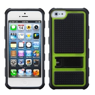 INSTEN Green Gummy Armor Stand Phone Case for Apple iPhone 5/ 5S/ SE