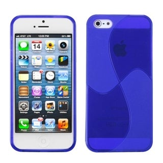 INSTEN Blue Windmill Candy Skin Phone Case for Apple iPhone 5/ 5S/ SE