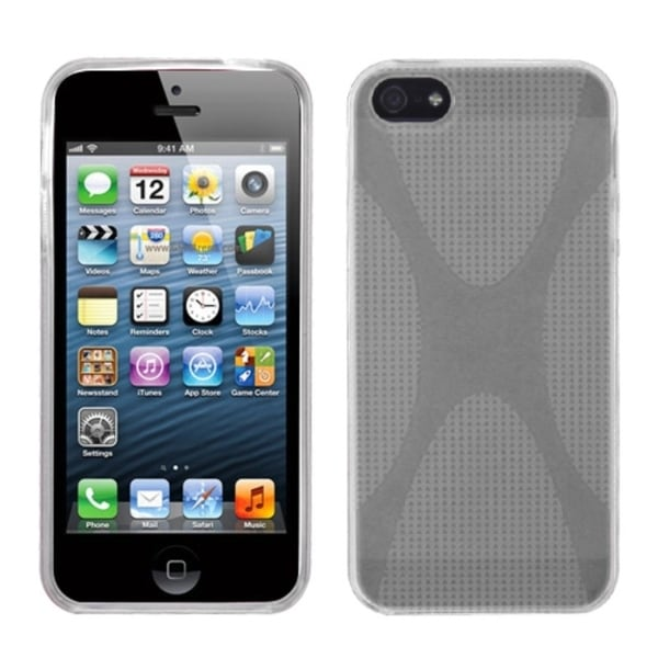 INSTEN Clear X Shape Candy Skin Phone Case for Apple iPhone 5/ 5S/ SE
