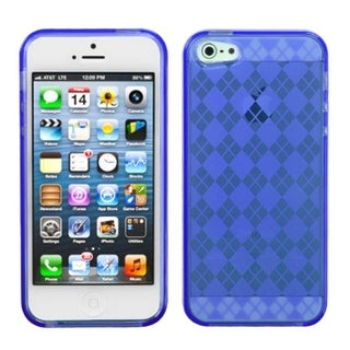 INSTEN Dark Blue Argyle Candy Skin Phone Case for Apple iPhone 5/ 5S/ SE