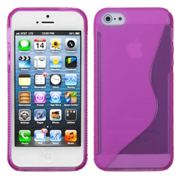 INSTEN Hot Pink S Shape Candy Skin Phone Case for Apple iPhone 5/ 5S/ SE