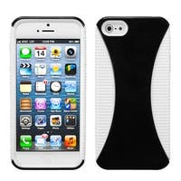 INSTEN Black/ White Mixy Phone Protector Phone Case for Apple iPhone 5/ 5S/ SE