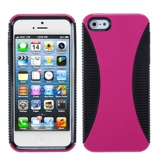 INSTEN Hot Pink/ Black Mixy Phone Protector Phone Case for Apple iPhone 5/ 5S/ 5C/ SE