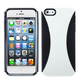 INSTEN White/ Black Mixy Phone Protector Phone Case for Apple iPhone 5/ 5S/ 5C/ SE