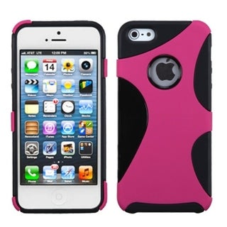 INSTEN Hot Pink/ Black Cragsman Mixy Phone Case for Apple iPhone 5/ 5S/ SE