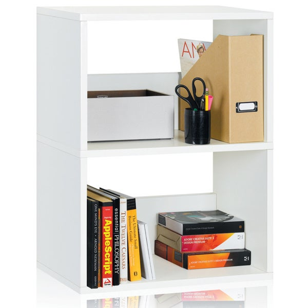 Dayton Eco Friendly 2-Shelf Bookcase and Storage Shelf LIFETIME WARRANTY (made from sustainable non-toxic zBoard paperboard)