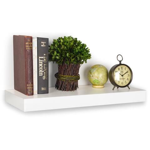 "Morgan Eco 24"" Floating Decorative Wall Shelf by Way Basics LIFETIME GUARANTEE"