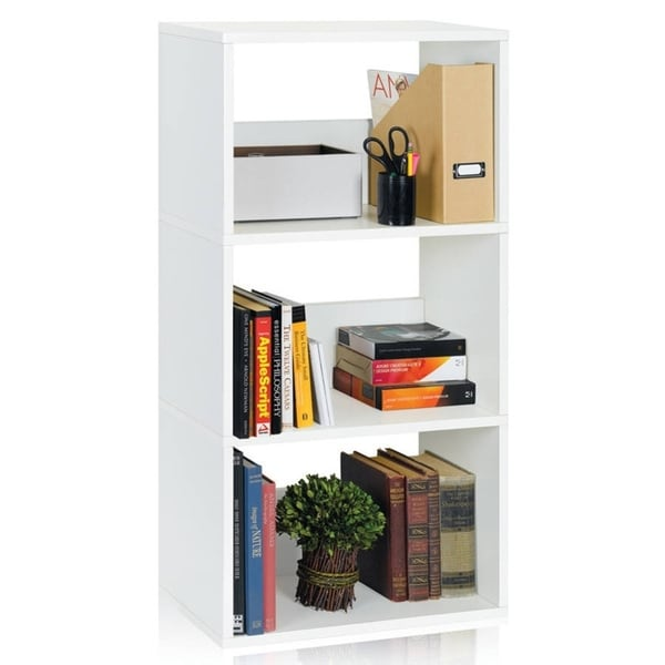 Linden Eco 3-Shelf Bookcase Modern Storage Shelf by Way Basics LIFETIME GUARANTEE