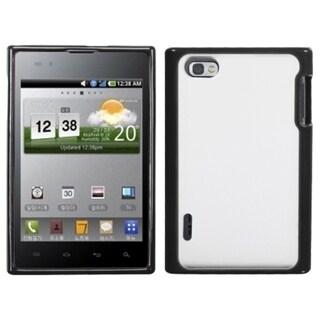 INSTEN Transparent Clear/ Black Phone Case Cover for LG VS950 Optimus Vu