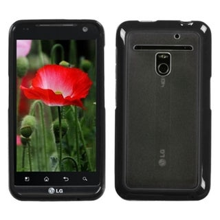 INSTEN Transparent Clear/ Black Phone Case Cover for LG VS910 Revolution Esteem