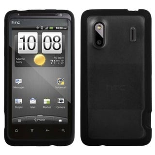 INSTEN Transparent Clear/ Black Phone Case Cover for HTC EVO Design 4G