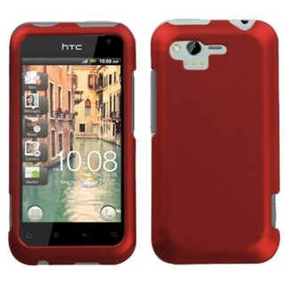INSTEN Titanium Red Phone Case Cover for HTC ADR6330 Rhyme