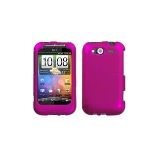 INSTEN Titanium Hot Pink Phone Case Cover for HTC Wildfire S GSM/ Wildfire S CDMA