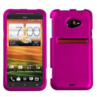 INSTEN Titanium Hot Pink Phone Case Cover for HTC EVO 4G LTE