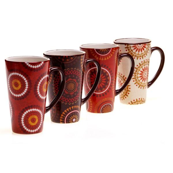Certified International Cup of Joe Latte Mug (Set of 4)