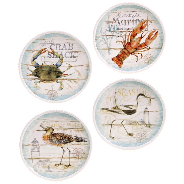 Certified International Beach Cottage Dinner Plates Set Of 4