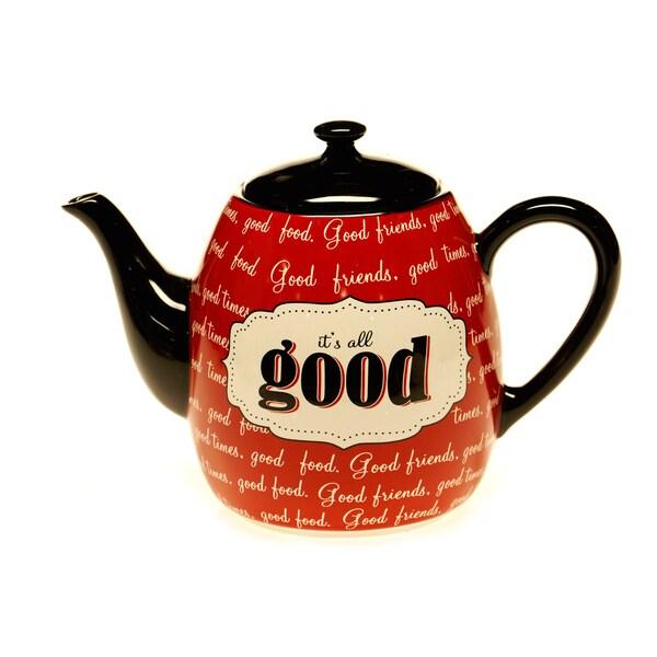 Certified International Eat At Mom's Teapot