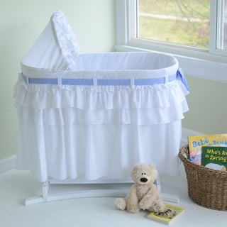 LaMont Home Good Night Baby White Bassinet