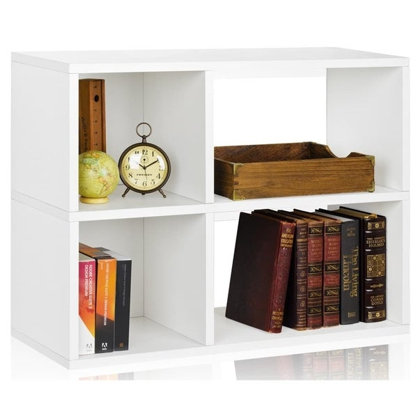 Chelsea Eco 2-Shelf Bookcase Cubby Storage Shelf by Way Basics LIFETIME GUARANTEE