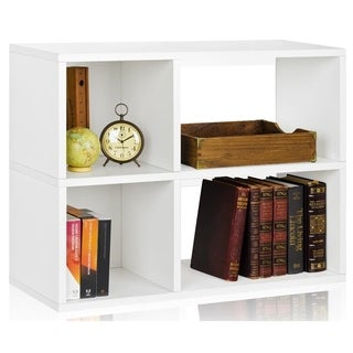 Eco 2 Shelf Chelsea Bookcase and Cubby Storage (made from sustainable non-toxic zBoard paperboard)