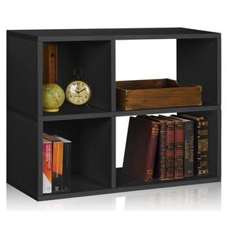 Chelsea Eco Friendly 2-Shelf Bookcase Cubby Storage Shelf LIFETIME WARRANTY (made from sustainable non-toxic zBoard paperboard)