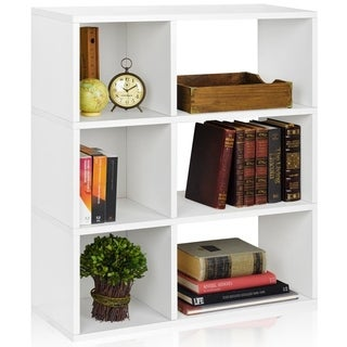 Eco 3 Shelf Sutton Bookcase and Cubby Storage (made from sustainable non-toxic zBoard paperboard)