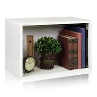 Preston Eco Stackable Rectangle Shoe Rack Modular Shelf Organizer by Way Basics LIFETIME GUARANTEE