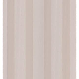 Brewster Taupe Linen Stripe Wallpaper