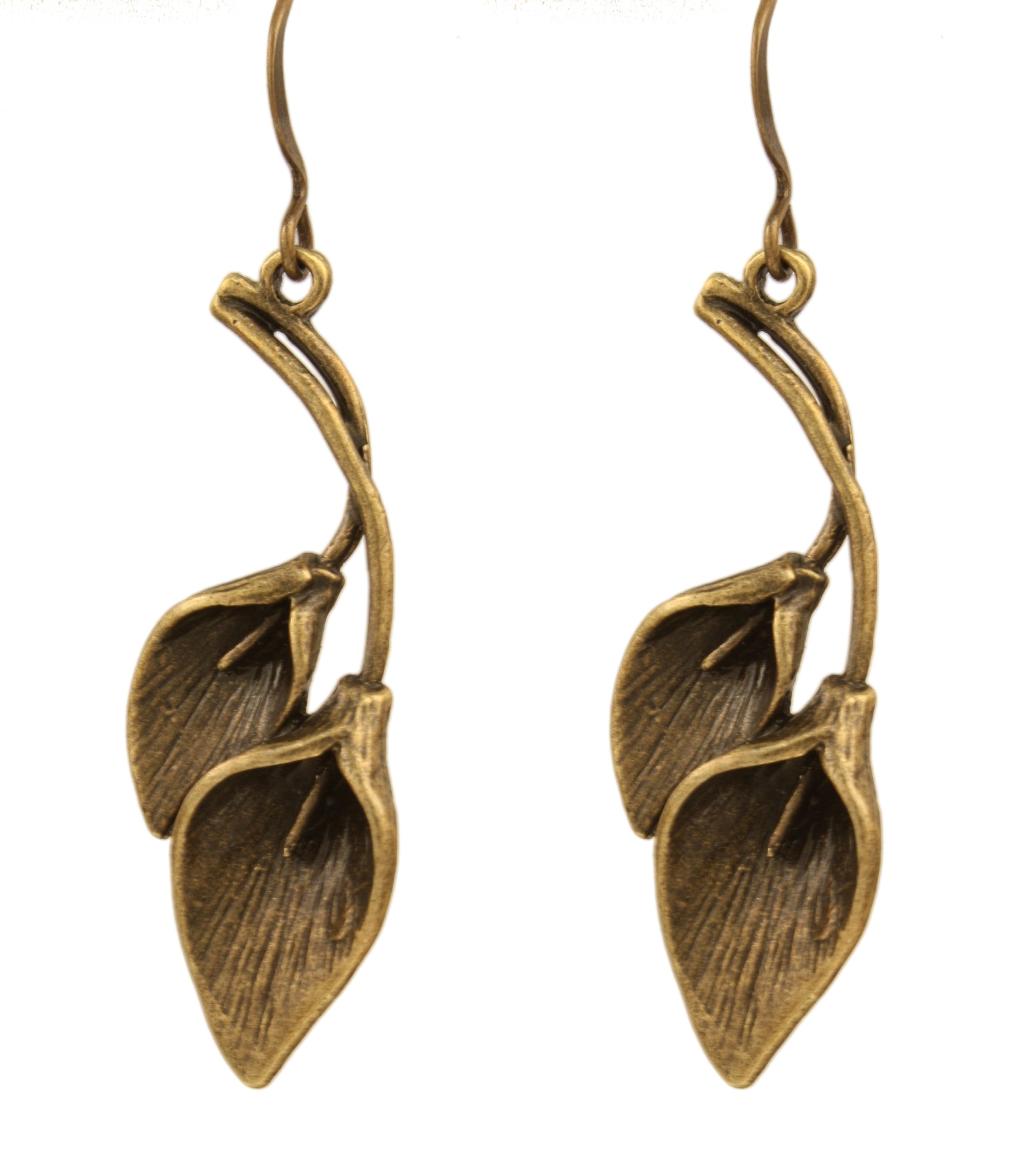 Ardent Designs Zanna Earrings (Brass on Brass), Women's, ...